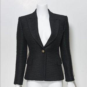 Balmain  Black Blazer  Size 38 Gold Button